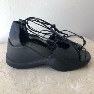 Y2K Leather Platform Sandals